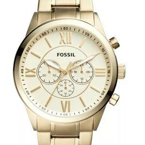 Fossil Flynn Midsize Chronograph Gold Tone